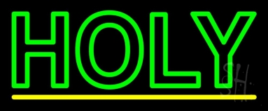 Green Holy LED Neon Sign
