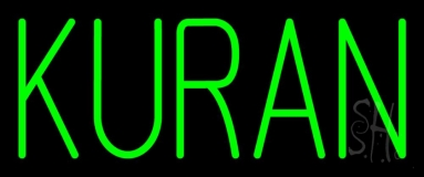 Green Kuran LED Neon Sign