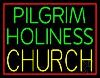 Green Pilgrim Holiness Yellow Church LED Neon Sign