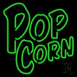 Green Popcorn Neon Sign