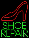 Green Shoe Repair Neon Sign