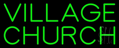 Green Village Church LED Neon Sign