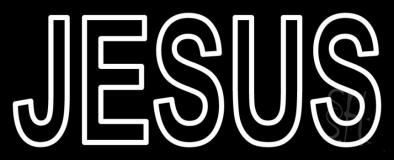 Jesus Block LED Neon Sign