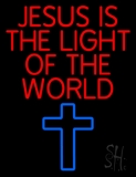 Jesus Is The Light Of The World LED Neon Sign