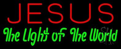 Jesus The Light Of World Neon Sign