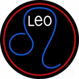 Leo Zodiac Neon Sign