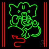 Lord Ganesha With Line Neon Sign
