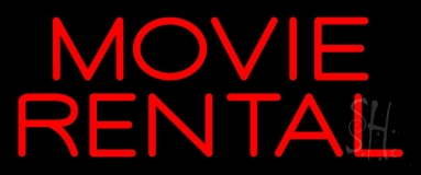 Movie Rental Neon Sign