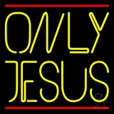Only Jesus With Line Neon Sign
