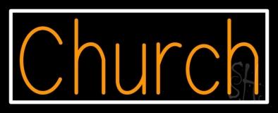 Orange Church Neon Sign