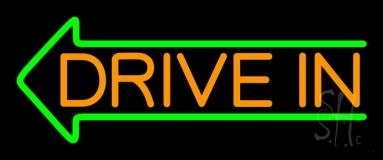Orange Drive In Green Arrow LED Neon Sign