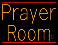Orange Prayer Room Neon Sign
