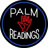 Palm Readings With Palm Blue Border Neon Sign