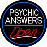 Psychic Answers Open Neon Sign