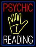 Psychic Reading Block Yellow Palm Neon Sign
