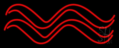Red Aquarius Logo Neon Sign