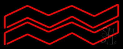 Red Aquarius Neon Sign