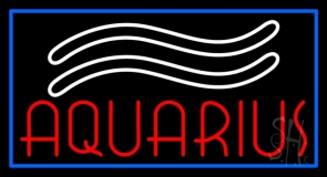 Red Aquarius LED Neon Sign