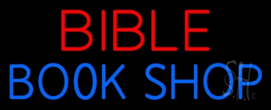 Red Bible Blue Book Shop LED Neon Sign