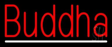 Red Buddha With Line LED Neon Sign