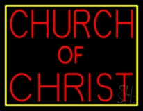 Red Church Of Christ LED Neon Sign