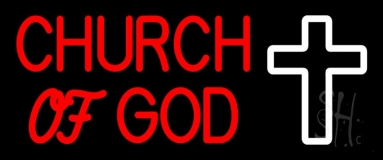 Red Church Of God LED Neon Sign