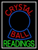 Red Crystal Ball Green Reader Neon Sign