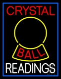 Red Crystal Ball White Reader Neon Sign
