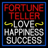 Red Fortune Teller White Love Happiness Success Neon Sign