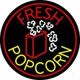 Red Fresh Yellow Popcorn Neon Sign