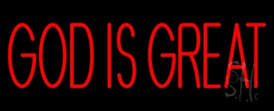 Red God Is Great LED Neon Sign