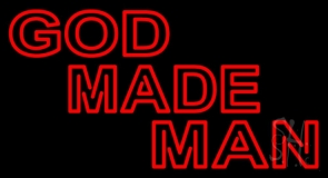 Red God Made Man Neon Sign