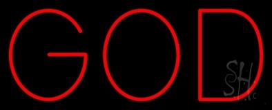 Red God LED Neon Sign