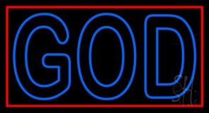Red God With Border Neon Sign