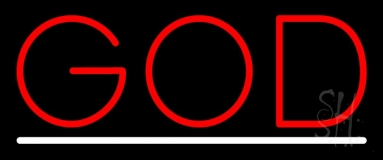 Red God With Line LED Neon Sign