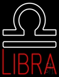 Red Libra Zodiac Neon Sign