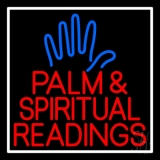 Red Palm And Spiritual Readings Neon Sign