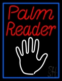 Red Palm Reader White Logo Neon Sign