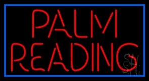 Red Palm Reading Neon Sign