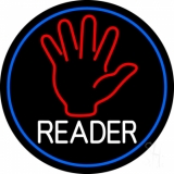 Red Palm White Reader Neon Sign