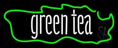 Green Tea Horizontal Neon Sign