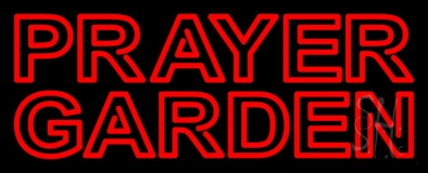 Red Prayer Garden Neon Sign