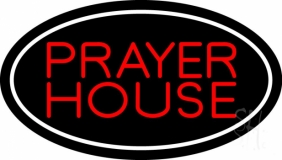 Red Prayer House Neon Sign