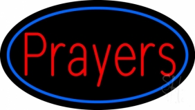 Red Prayers Neon Sign