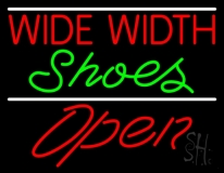Red Wide Width Green Shoes Open Neon Sign
