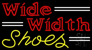 Red Wide Width Yellow Shoes Neon Sign