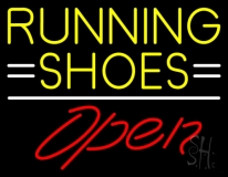 Running Shoes Open Neon Sign