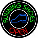 Running Shoes Open With Border Neon Sign