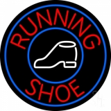 Running Shoes With Circle Neon Sign
