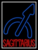Sagittarius White Border Neon Sign